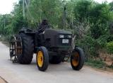 traktor z ryžových polí, Srí Lanka