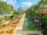 Areál plážového hotelu na Srí Lance