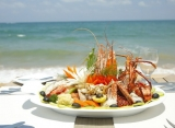 Pandanus beach resort Srí Lanka - morské plody