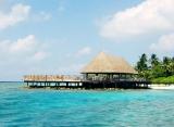 Bandos Island resort - Slnečná terasa