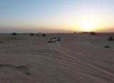 Západ slunka - púšť Dubaj