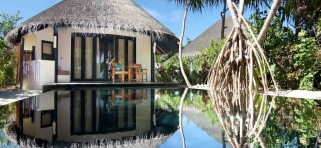 Sun Siyam Iru Fushi - plážová vila deluxe