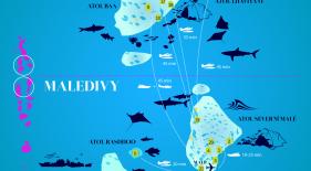 Maledivy mapa