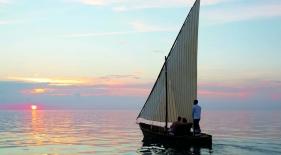Západ slnka Maledivy
