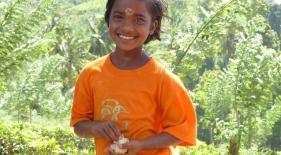 Tamilská holčička, Srí Lanka
