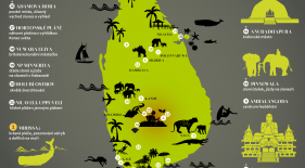 Mapa Srí Lanka