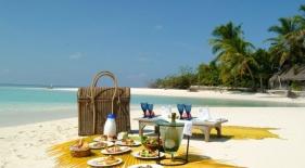 Piknik na pláži, Maledivy